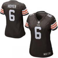 Quality Nike Brian Hoyer Cleveland Browns Historic Logo Women's Game Jersey for sale