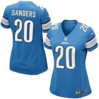 Quality Nike Barry Sanders Detroit Lions Women's Blue Retired Game Jersey for sale