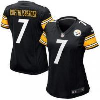 Quality Nike Ben Roethlisberger Pittsburgh Steelers Women's Black Game Jersey for sale
