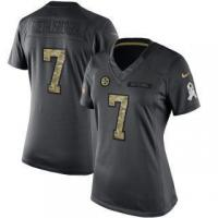 Quality Nike Ben Roethlisberger Pittsburgh Steelers Women's Anthracite 2016 Salute to Service Limited Jersey for sale