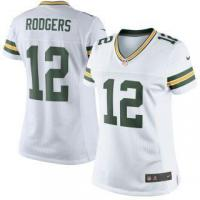 Buy cheap Nike Aaron Rodgers Green Bay Packers Women's White Color Rush Limited Jersey from wholesalers