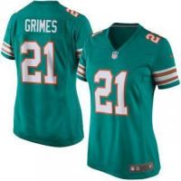 China Nike Brent Grimes Miami Dolphins Women's Aqua Alternate Game Jersey on sale