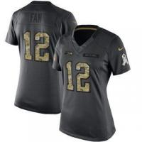 Buy cheap Nike 12 Fan Seattle Seahawks Women's Anthracite Salute to Service Limited Jersey from wholesalers