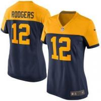 Buy cheap Nike Aaron Rodgers Green Bay Packers Women's Navy Alternate Game Jersey from wholesalers