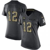 Buy cheap Nike Aaron Rodgers Green Bay Packers Women's Anthracite 2016 Salute to Service Limited Jersey from wholesalers