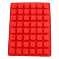 China 40 Cavity Silicone Mold Candy Molds Chocolate Baking Tools Alphabet Block Ice Cube Trays on sale