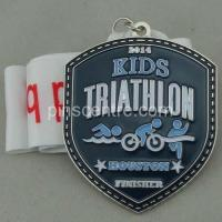 China Kids Triathlon Enamel Medal on sale