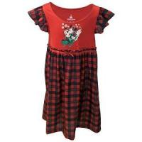 China Disney Girls Holiday Nightgown - Santa Mickey & Minnie Sledding Plaid on sale