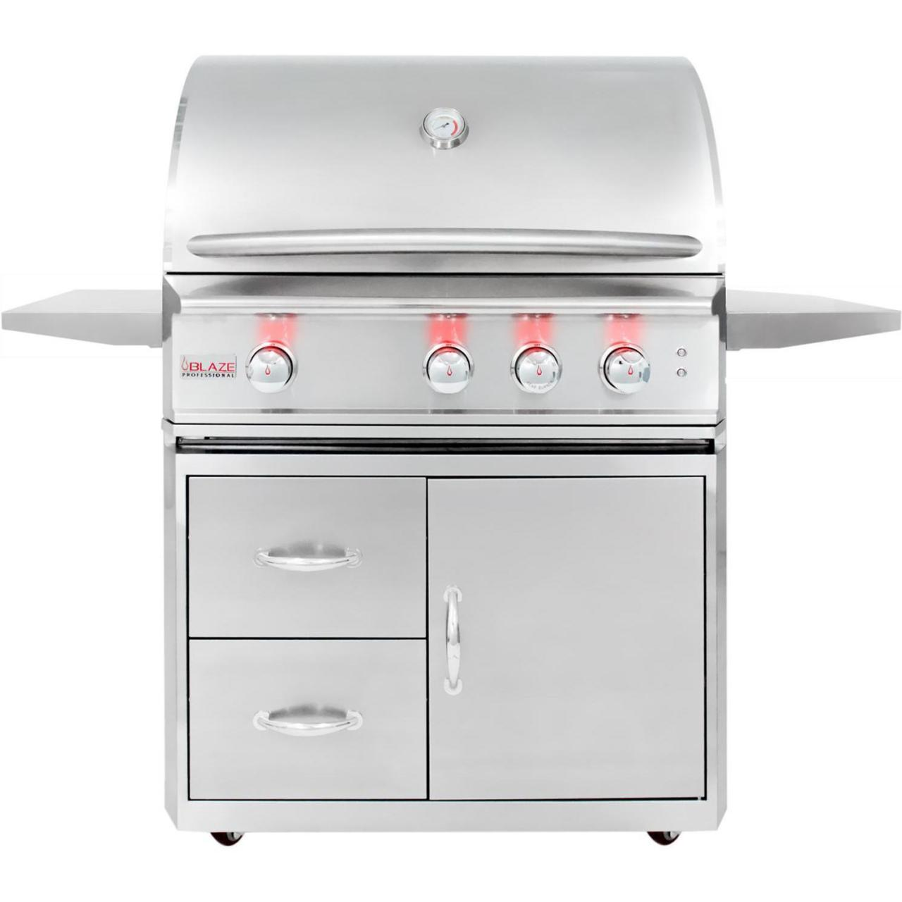 Quality Blaze Professional 34-Inch Freestanding Propane Gas Grill With Rear Infrared Burner for sale