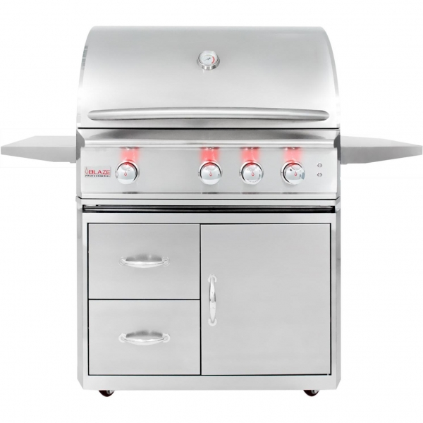 China Blaze Professional 34-Inch Freestanding Propane Gas Grill With Rear Infrared Burner