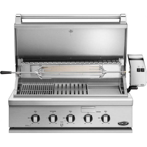 China DCS Heritage 36-Inch Built-In Natural Gas Grill With Infrared Burner Kit & Griddle - BH1-36RGI-N