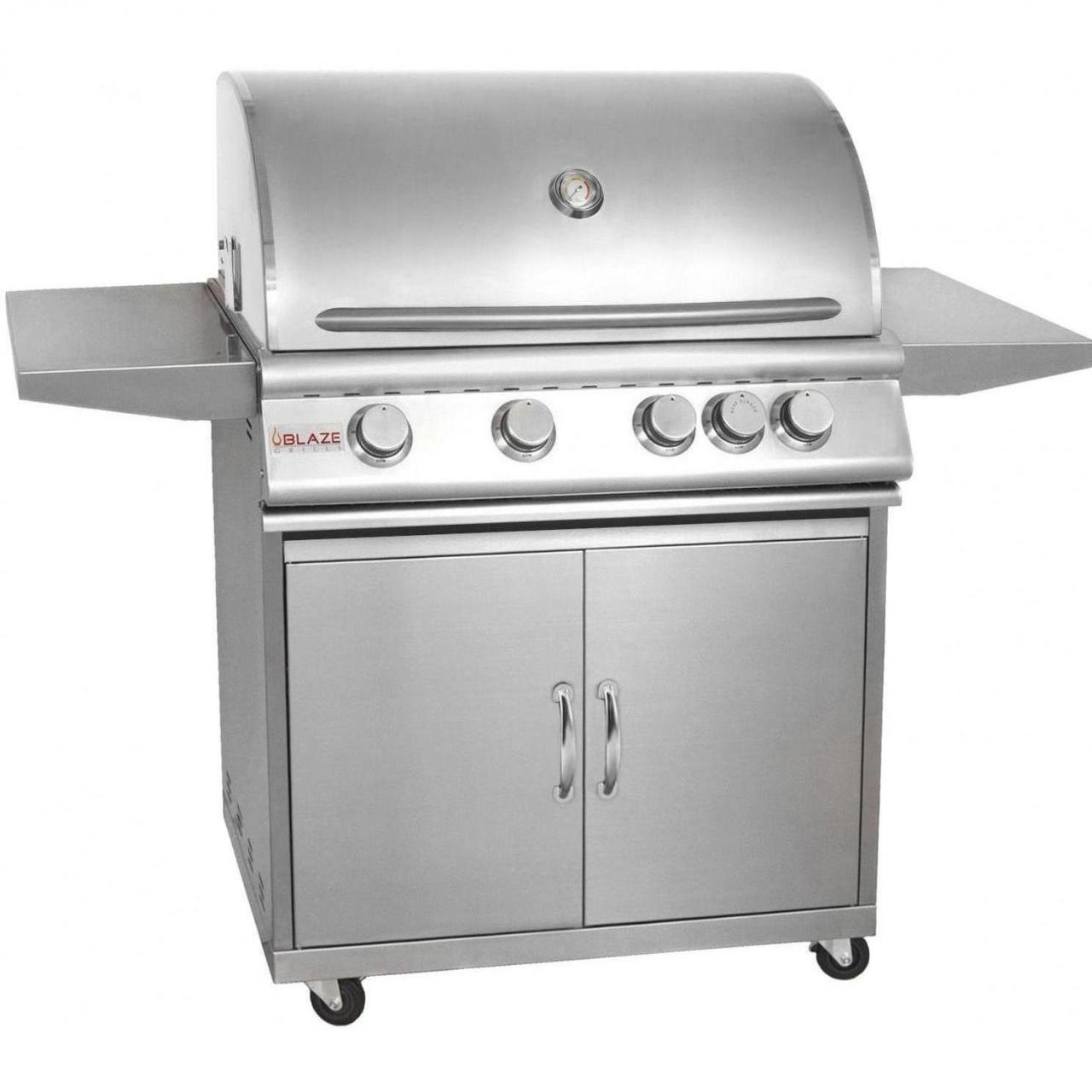 Buy Blaze 32-Inch 4-Burner Freestanding Propane Gas Grill With Rear Infrared Burner - BLZ-4-LP at wholesale prices