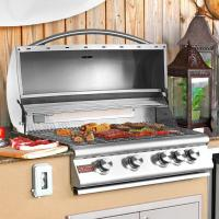 Quality Blaze 32-Inch 4-Burner Built-In Natural Gas Grill With Rear Infrared Burner - BLZ-4-NG for sale
