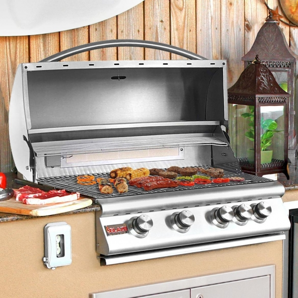 China Blaze 32-Inch 4-Burner Built-In Natural Gas Grill With Rear Infrared Burner - BLZ-4-NG