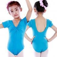 Buy cheap Leotards Child short sleeve front-twist leotards CT2049 from wholesalers