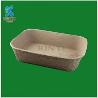 Quality Biodegradable molded pulp flower pots trays for sale