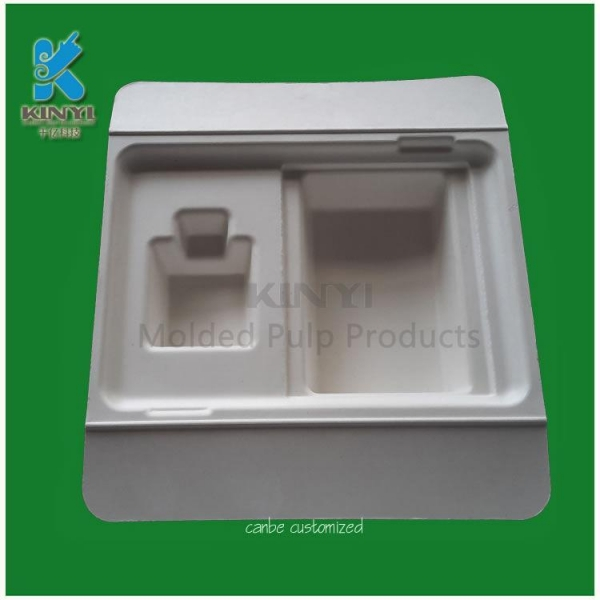 Buy Mechanical Bleached bamboo pulp packaging tray at wholesale prices
