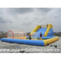 Quality Inflatable Zorbing Ramp Inflatable Zorb Ramp and Water Pool Combo for sale
