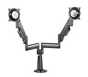 China Height-Adjustable Dual Arm Dual Monitor Desk Mount
