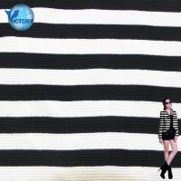 China Baby Jacket Clothes Knit Scuba Air Layer Double Sided Yarn Dyed Stripe Quilted Jacquard Fabric on sale