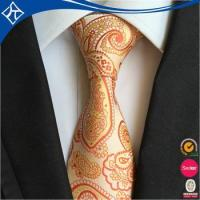 Quality best popular low moq 10 sunflower yellow man tie for sale
