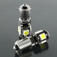 Quality BA9S Led Bulb , 5 Pieces SMD 5050 T10 W5W Led In Canbus Function ( Epistar Chip) for sale