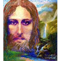 China Abstract Contemporary Jesus Painting, Chalice Of Life on sale