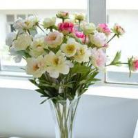 China silk artificial flower wholesale hand make home decorative peony flower on sale