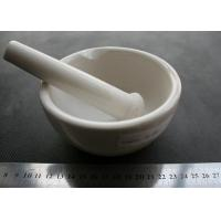 China Glazed Porcelain Mortar and Pestle with Pouring Lip for lab use on sale
