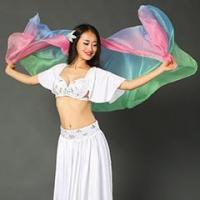 Quality Belly Dance Performance Imitation Silk Veil,Nice Belly Dance Accessory Hand Veil for sale