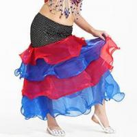 Quality Sexy 4Layers Children Performance Belly Dance Skirt,Kids Dance Performance Skirt for sale