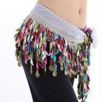 Quality Professional Belly Dance Hip Scarf,Belly Dance Practice Coins Belt For Women for sale