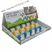 Quality hoot hoot lip gloss counter display for sale
