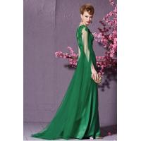 China Prom Dresses Dazzling Couture Green Draped Sleeve Prom Dress - 7309196 on sale