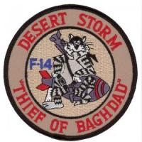 Quality Embroidered Badge 91010299 Embroidered Military Patch With Cartoon Cat - Desert Storm (91010299) for sale
