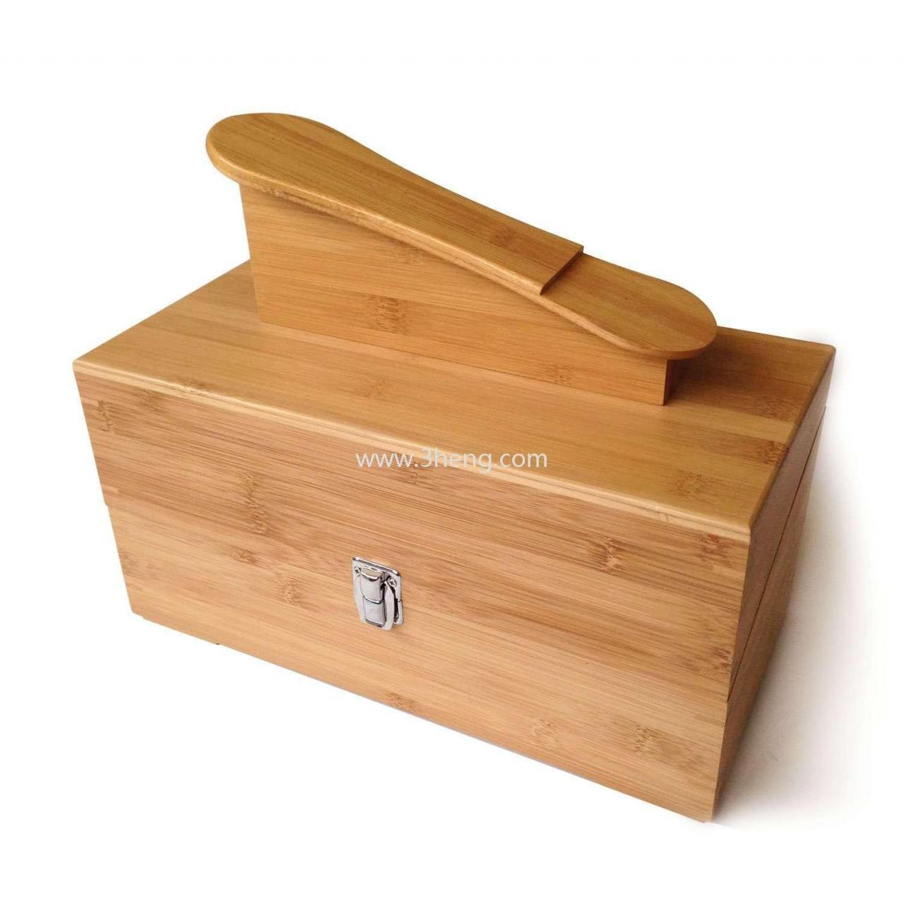 Quality Eco-friendly Bamboo Hand-Crafted Shoe Shine Kit for sale