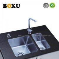 Quality Kitchen sink double bowl 9208 stainless steel for sale