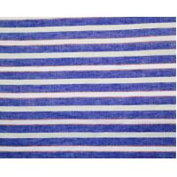 China Cotton Linen Yarn Dye Horizontal Stripe With Leno Dobby on sale