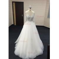 Quality 2016 New Long Sleeve Ball Gown Crystal Tulle Skirt Bridal Wedding Gowns for sale