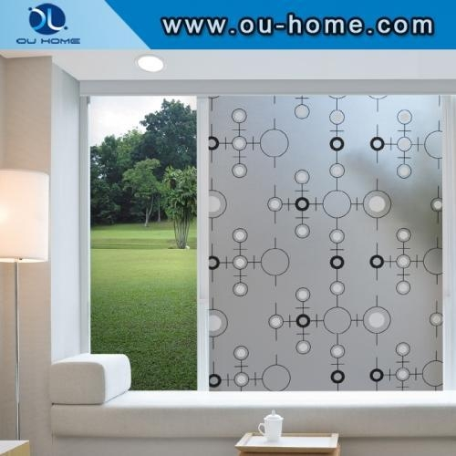 China R806 Popular PVC frosted decortaion stained glass window film