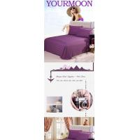 China Guest Room Series pure cotton plain color satin bed sheet on sale
