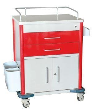 Buy Movable Hospital Plastic Medical Crash Cart with Drawers Emergency Cart at wholesale prices