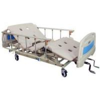 Quality 3 Cranks Fowler Bed Vertical Lift Manual Hospital Bed with Aluminum on Casters with Brake for sale