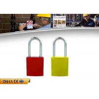 Buy cheap OEM Safety Lockout Padlocks 8 Colors Aluminum Material 142g Weight from wholesalers
