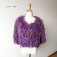 Quality JJ-16381 Women natural lamb fur short style coat AW15FURCOLLECTION for sale