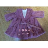 Quality MJ003 LADY'S MINK FUR COAT AW15FAKEFURCOLLECTION for sale