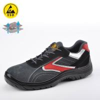 Buy cheap Safety shoe for summer gray and black L-7308 product