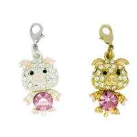 Crystal little pig charms(8758)