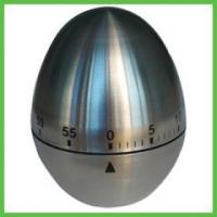Quality Kitchen Items 60 Minutes Mechanism Metal Stainless Steel Egg Kitchen Timer for sale