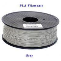 Quality PLA material for 3d printing / 1.75 mm 3d printer filament Gray color for sale